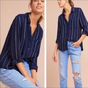 Anthro Cloth & Stone Tulane striped top